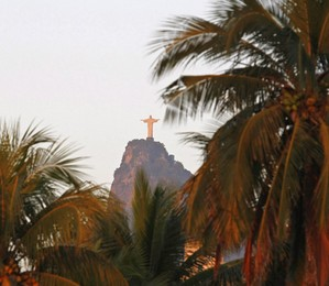 Visão do Cristo Redentor, no Rio de Janeiro (Foto: André Teixeira / Agência O Globo )