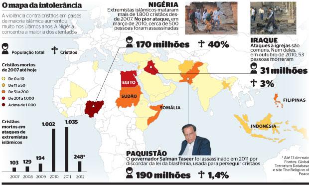 O mapa da intolerância (Foto: AP (2) e Khalid Mohammed/AP)