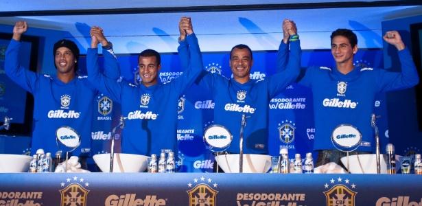Evento da CBF desta quinta foi o 1º de Ronaldinho desde que voltou à seleção
