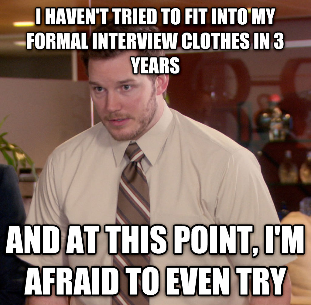 Image result for interview clothes meme