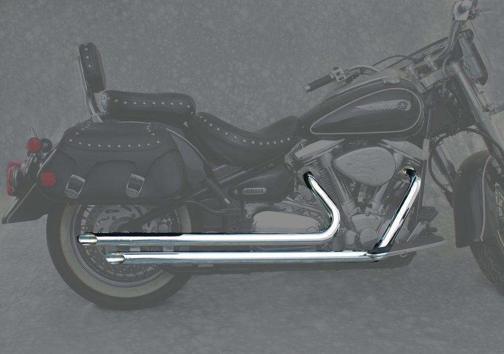 371 95 mac 2 2 2 inch slash cut drag pipe dual exhaust 952942