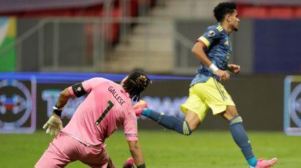 Remontada de Colombia: Luis Díaz quedó mano a mano ante Gallese y definió para 2-1 contra Perú   VIDEO