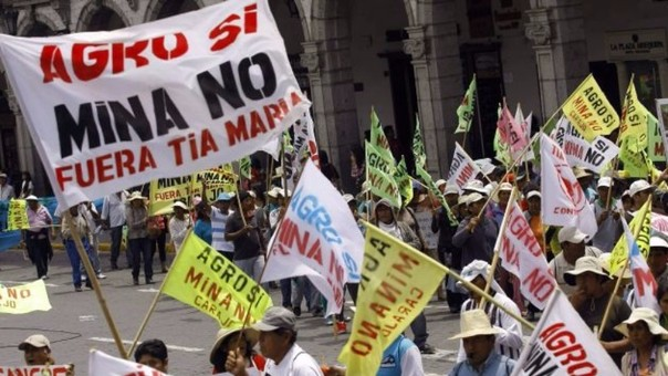 El fracaso proyecto de Tía María causó inestabilidad en el gobierno de Ollanta Humala.