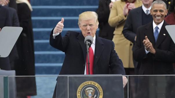 Obama estuvo presente en la ceremonia de juramentación de Trump.