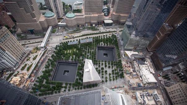 Este es el memorial que recuerda que ahí estuvieron presentes las Torres Gemelas.