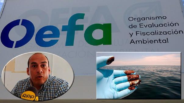 OEFA realiza trabajo de campo para investigar derrame de petróleo en el mar de Talara, frente a Cabo Blanco.