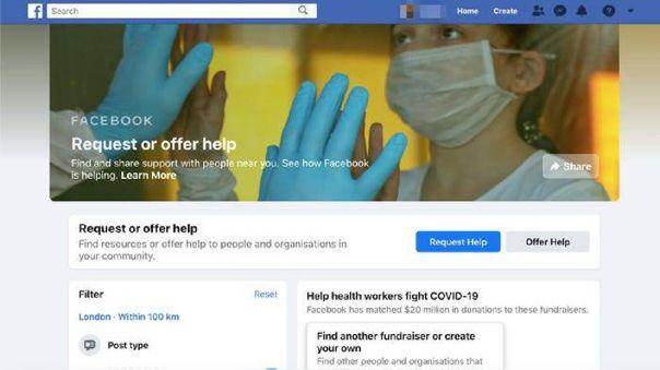 Facebook crea una herramienta para conectar ayudas voluntarias