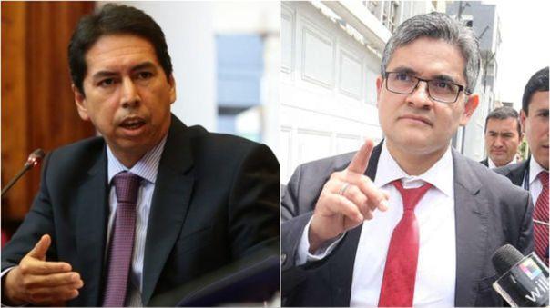 José Miguel Castro, exfuncionario municipal, y José Domingo Pérez, fiscal del caso Lava Jato.