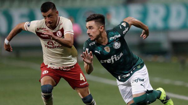 Universitario sucumbió ante el Palmeiras en territorio brasilero.