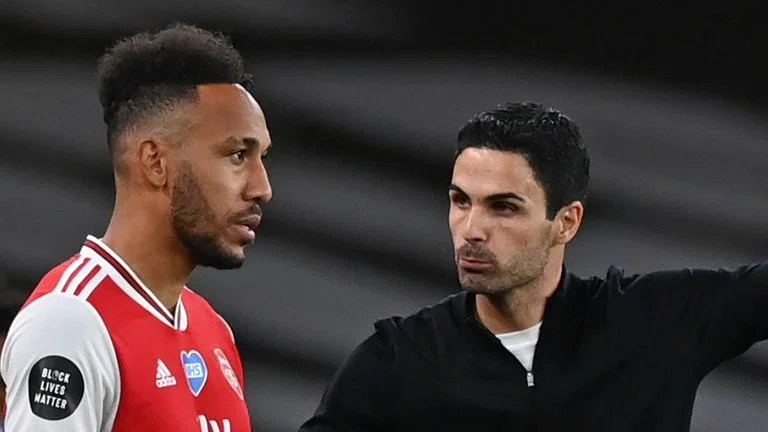 Mikel Arteta says Pierre-Emerick Aubameyang is in 'the perfect place for him'