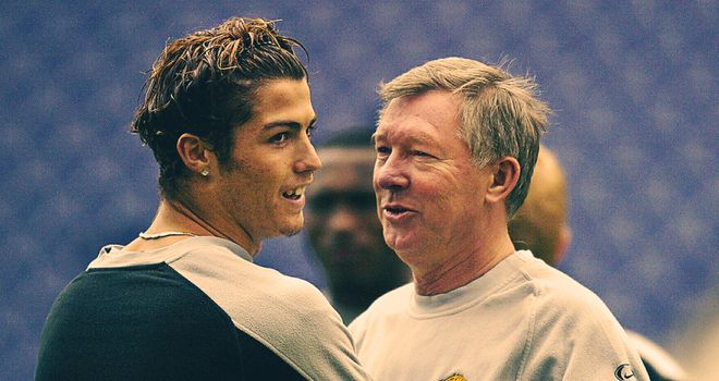 Cristiano Ronaldo says Sir Alex Ferguson introduced him to Man Utd players straight after playing in a friendly against them in 2003