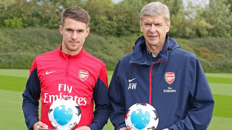 Arsenal duo Arsene Wenger and Aaron Ramsey win Premier ...