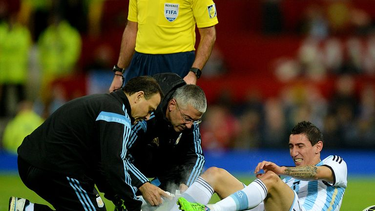 Image result for Angel Di maria injured in argentina
