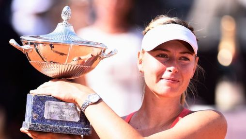 Maria Sharapova: Will move up to second in the world after winning the Italian Open once again