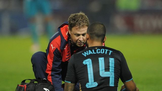 Image result for walcott subbed off sheffield wednesday
