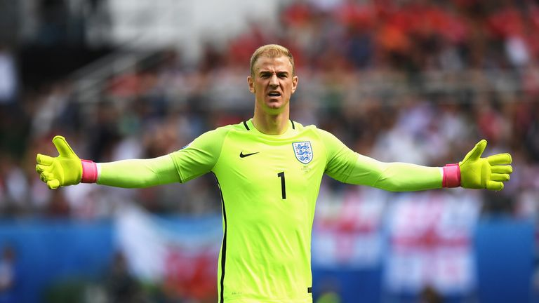 hart played in all four of england s games at euro 2017