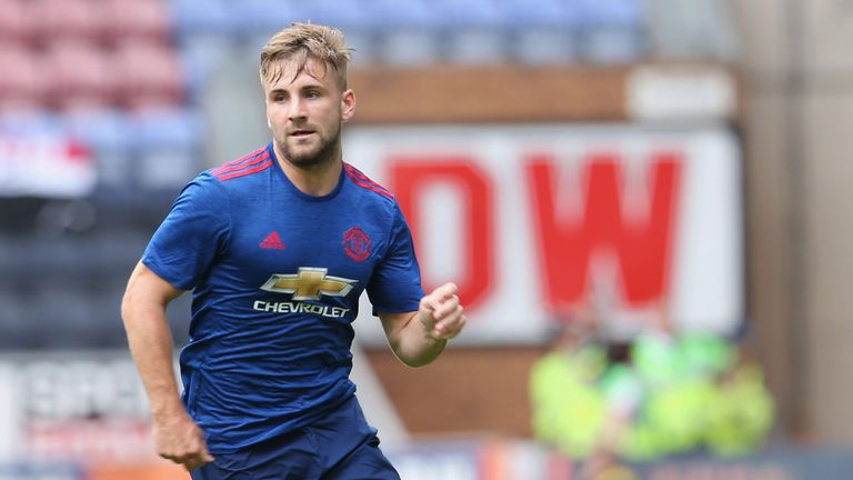 Luke Shaw made his return to first team action after 10 months on Saturday