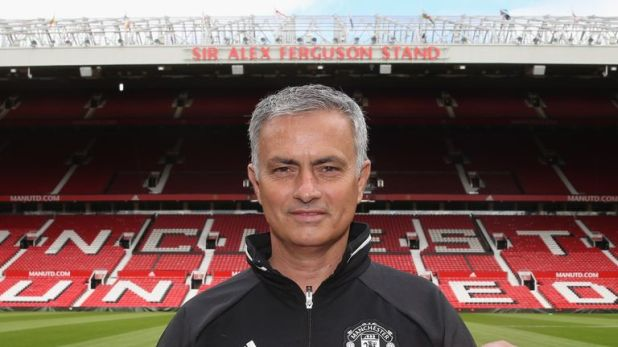 Mourinho replaced Louis van Gaal at Old Trafford