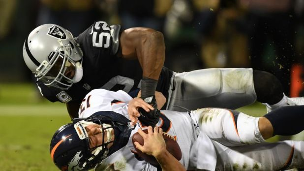 Khalil Mack had 40.5 sacks in four seasons with the Oakland Raiders