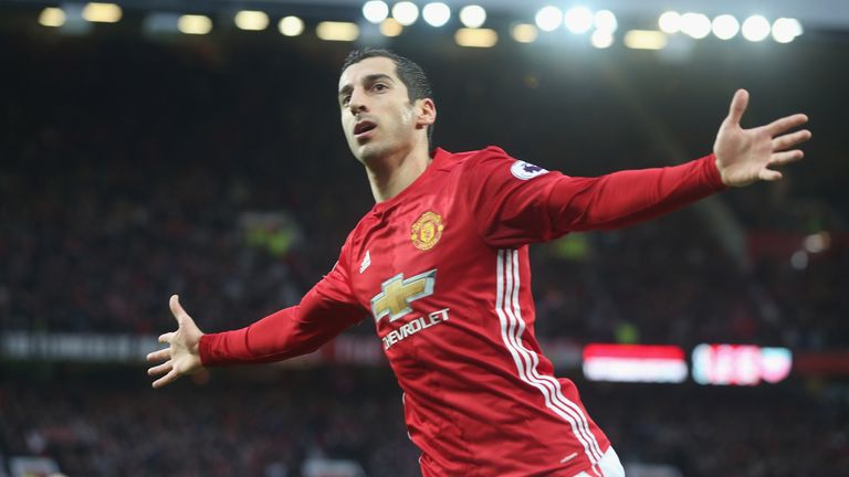 Mkhitaryan netted the only goal during the victory at Old Trafford