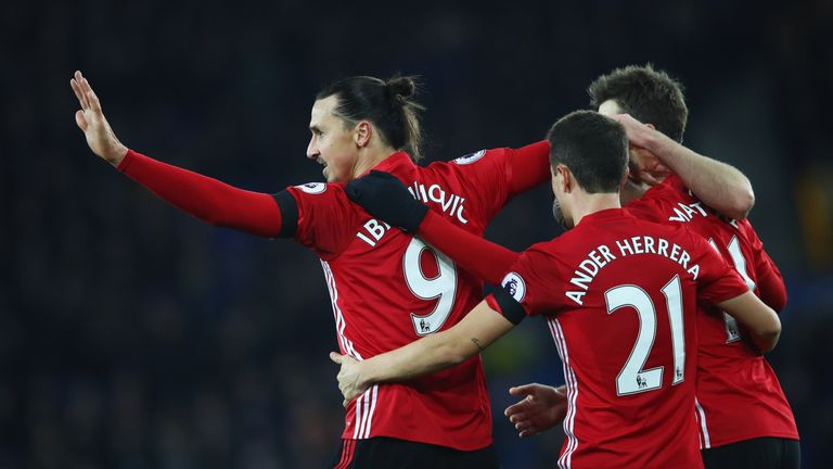 Ibrahimovic has scored 13 times since joining Manchester United in the summer