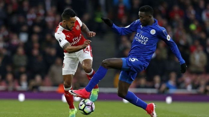 Image result for The Premier League arsenal leicester 2017