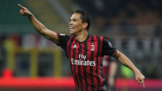 Milan striker Carlos Bacca is wanted by Everton