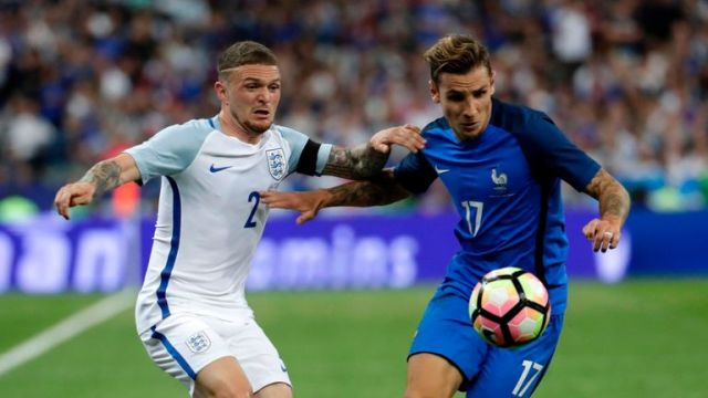 Kieran Trippier made his England debut on Tuesday