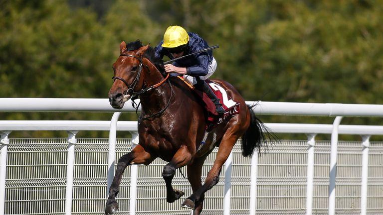 Crystal Ocean wins the Qatar Gordon Stakes