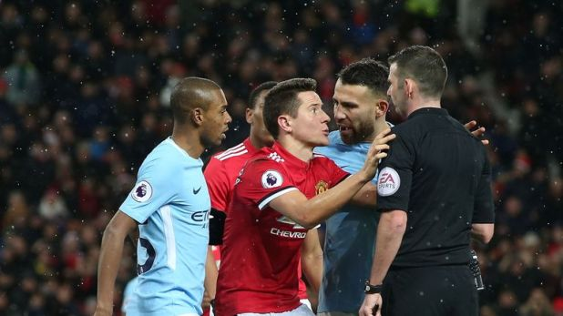 Manchester City beat United 2-1 in December 2017