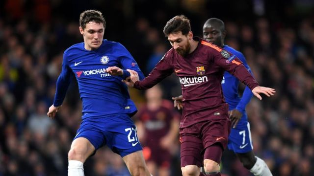 Antonio Conte says Barcelona have an advantage heading into the second leg of their Champions League last-16 tie with Chelsea