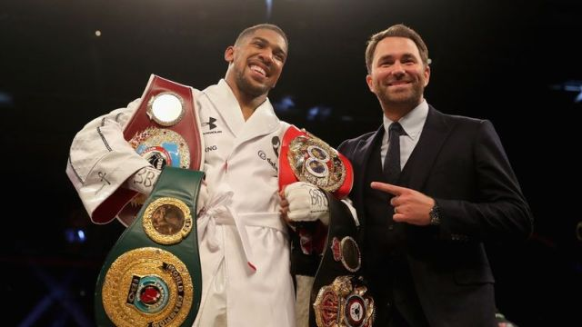 Negotiations have been ongoing since Joshua added a third world title to his collection in March