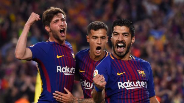 Luis Suarez and Philippe Coutinho both left Liverpool to sign for Barcelona