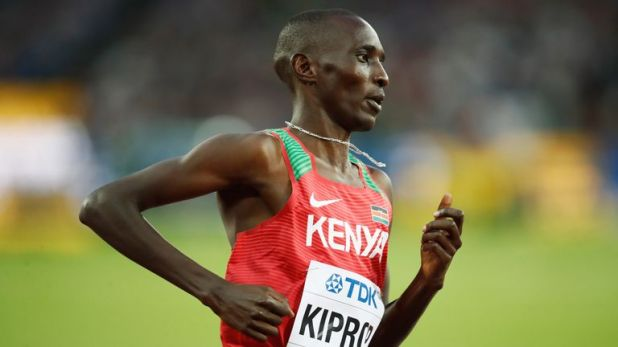 Asbel Kiprop was upgraded to a gold medal at the 2008 Olympics