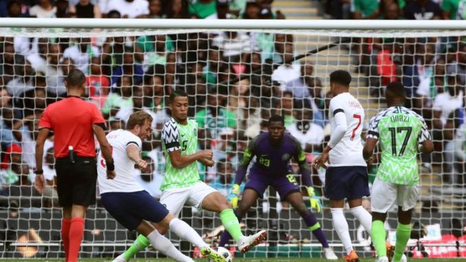 Kane scores England's second goal at Wembley