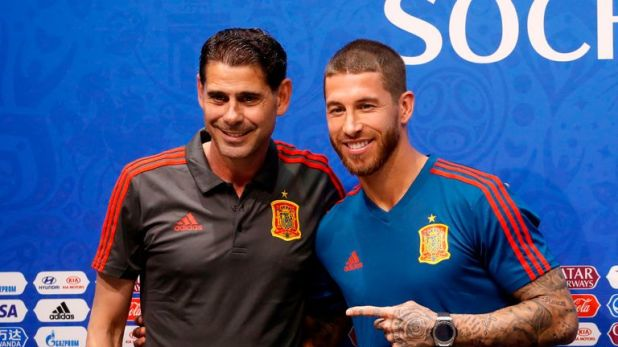New head coach Fernando Hierro and Sergio Ramos held a press conference on Thursday