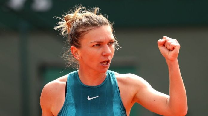 Halep produced aggressive tennis throughout the encounter Simona Halep defeats Sloane Stephens to win maiden Grand Slam at French Open | Tennis News Simona Halep defeats Sloane Stephens to win maiden Grand Slam at French Open | Tennis News skysports simona halep tennis 4331775