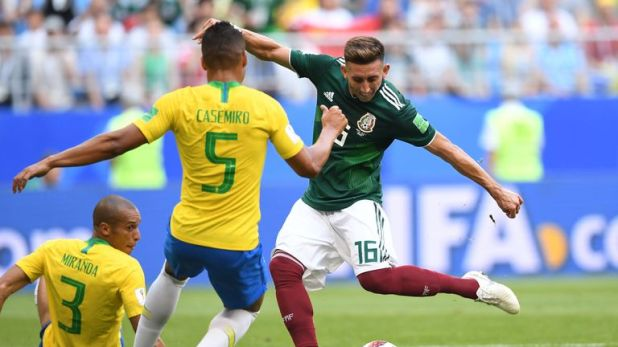 Hector Herrera featured for Mexico at the World Cup
