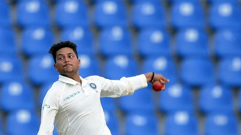 Kuldeep Yadav is in contention to win his third Test cap for India