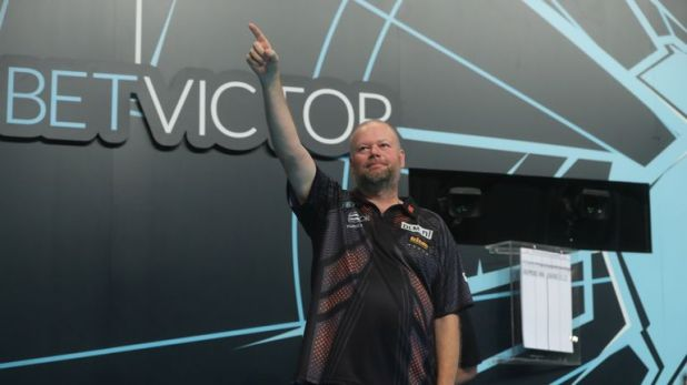 Raymond van Barneveld faces another Anderson for a place in the last eight