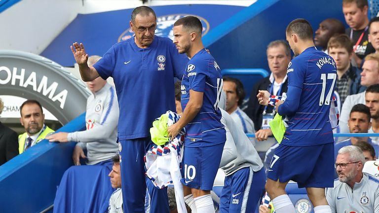 Eden Hazard is enjoying playing football under Chelsea boss Maurizio Sarri