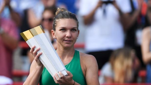 Simona Halep sealed a thrilling victory to win in Montreal