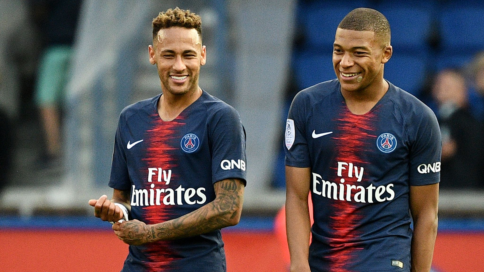 neymar and kylian mbappe fit to start