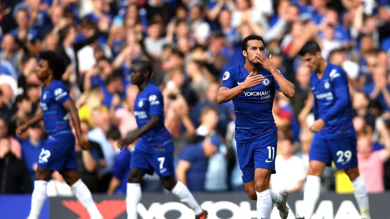 Pedro is a doubt for Chelsea's trip to West Ham