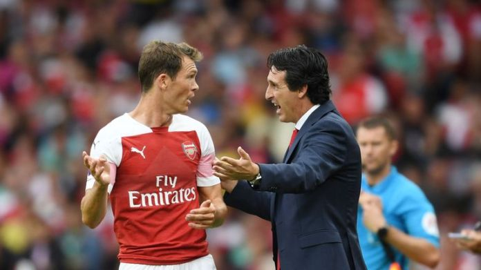 Lichtsteiner has played 21 games for the Arsenal this season