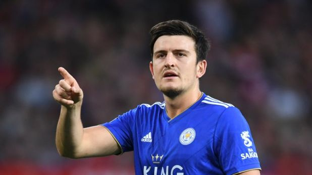 Harry Maguire signed a five-year contract at Leicester in September