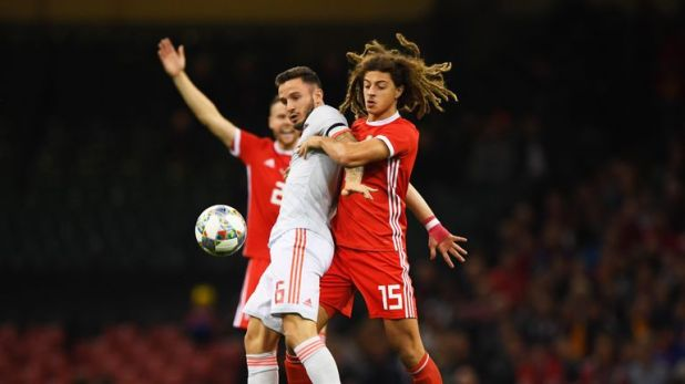 Ethan Ampadu was forced to leave the pitch against Spain through injury
