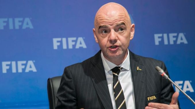 Gianni Infantino has been FIFA president since February 2016