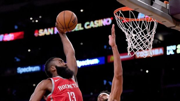James Harden outshone LeBron with 36 points to lead the Rockets to victory