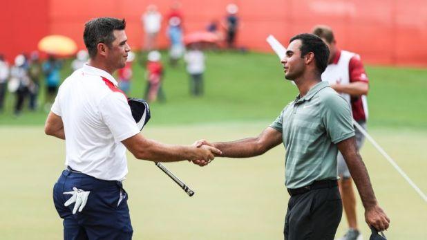 Shubhankar Sharma (right) has already won in Malaysia this season
